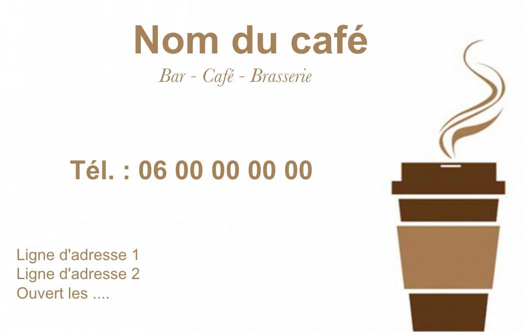 Bar Cafe Carte De Visite A Commander En Ligne Et Personnaliser Impression Pas Cher