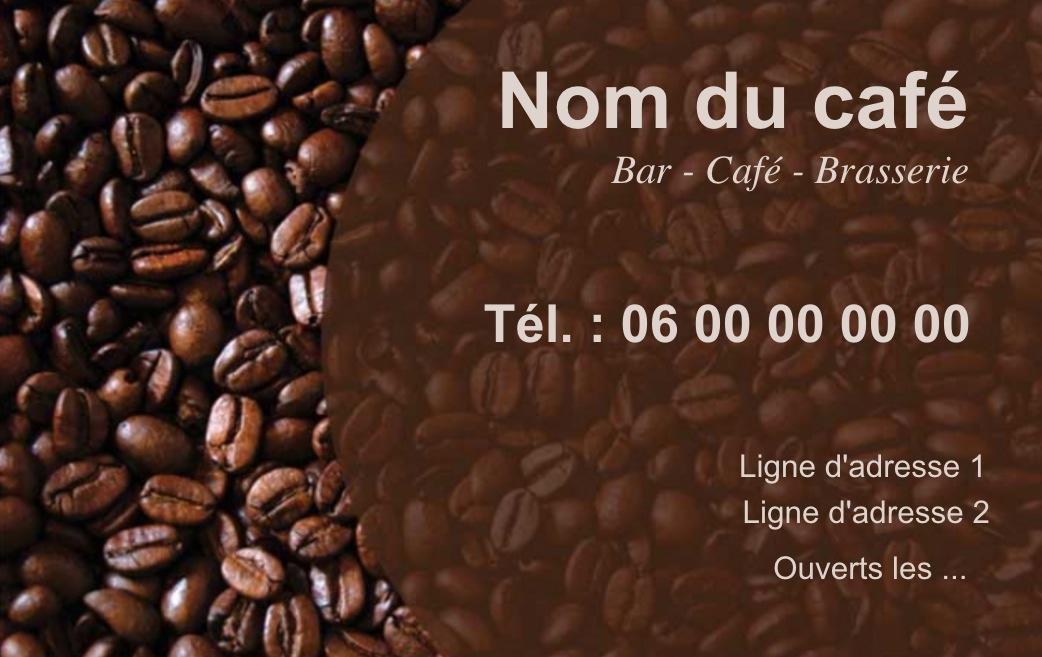 Exemple Et Modele De Carte Visite Cafe Restaurant A Personnaliser En Choisissant Un Gratuit Fond Sombre