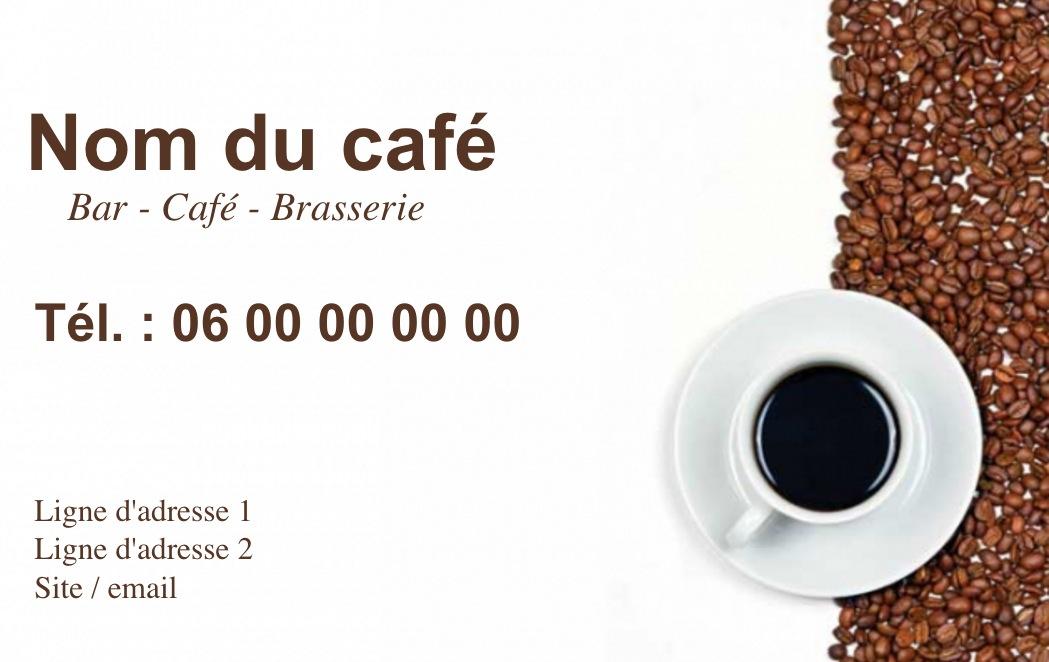 Exemple Et Modele De Carte Visite Cafe Restaurant A Personnaliser En Choisissant Un Gratuit Fond Tasse