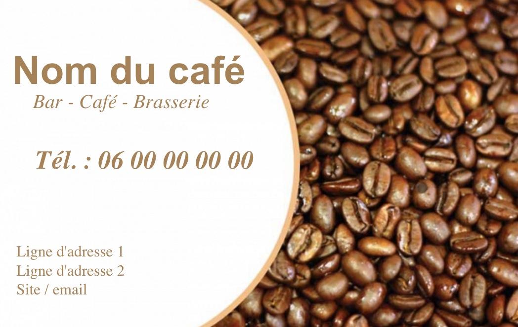 Exemple Et Modele De Carte Visite Cafe Restaurant A Personnaliser En Choisissant Un Gratuit Fond