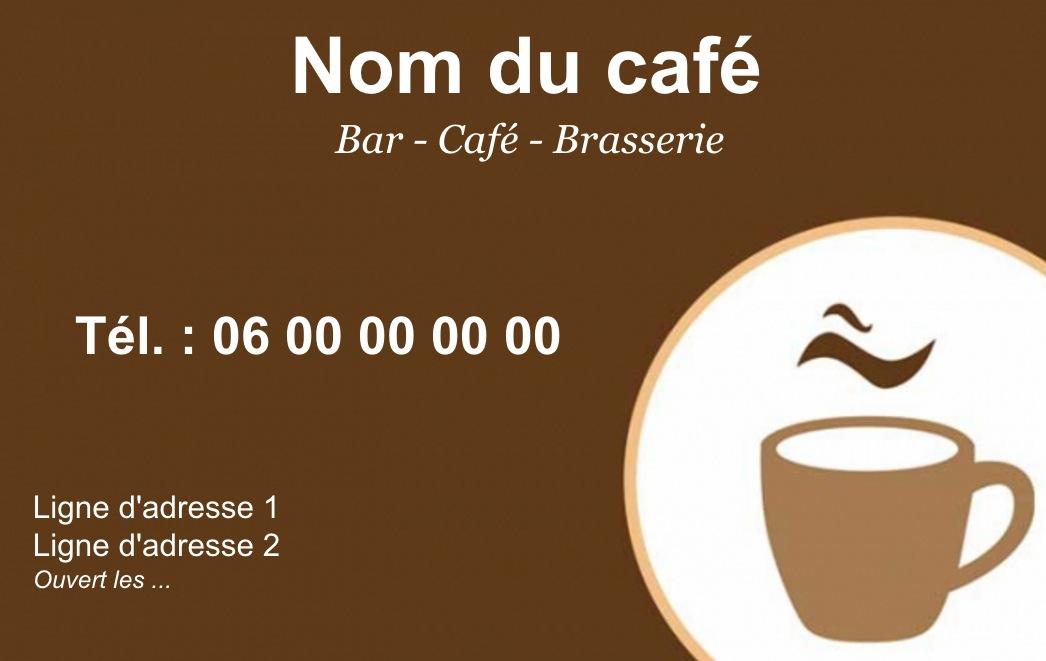 Exemple Et Modele De Carte Visite Cafe Restaurant A Personnaliser En Choisissant Un Gratuit Fond Avec Tasse