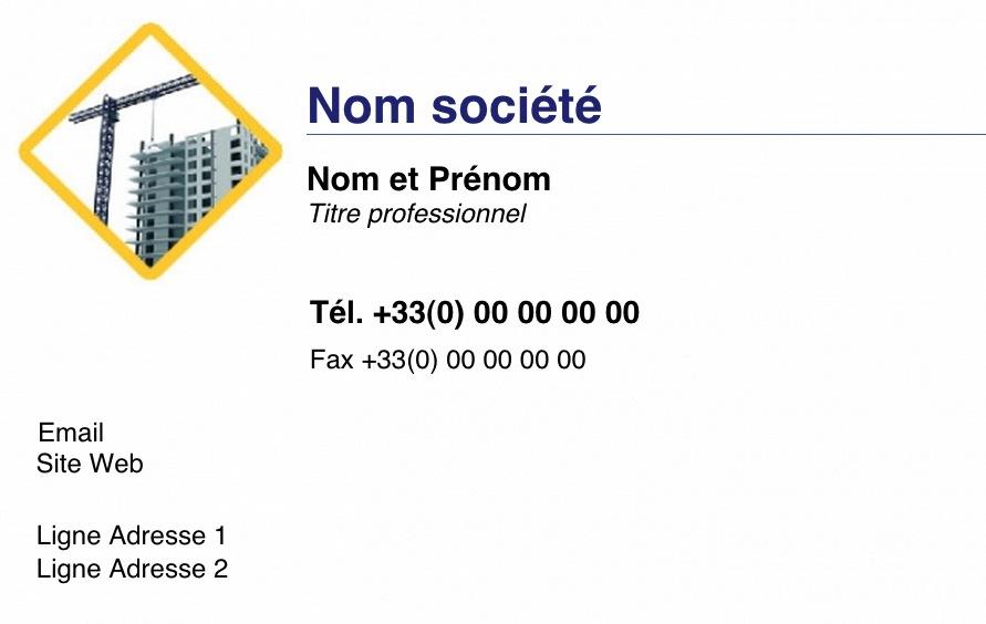 Mtier Du Btiment Et De La Construction Exemple Carte Visite Pour Professionnel Original Design Avec Logo Modle Gratuit Impression