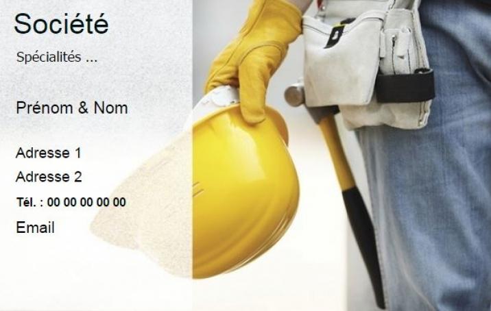 BModele Carte De Visite Professionnelle B Avec Exemple Batiment Modele Original Construction Pas Chere