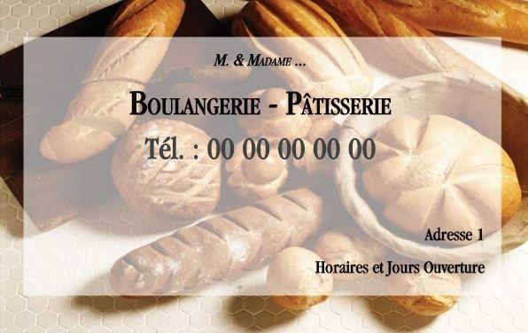 Carte De Visite A Personnaliser Soit Meme Gratuitement En Ligne Imprimer Pour Les Boulanger Patissier