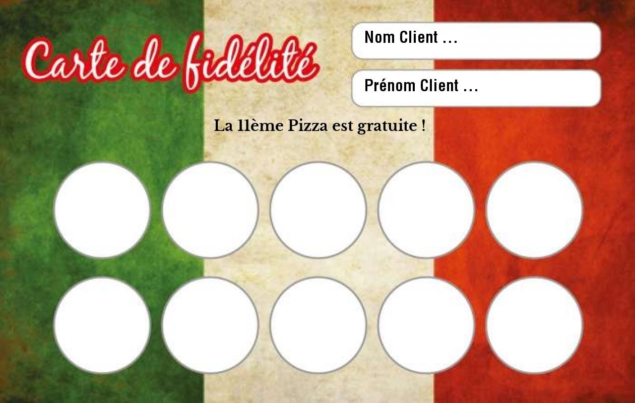 Carte De Fidelite Pizzeria Modele Gratuit A Personnaliser