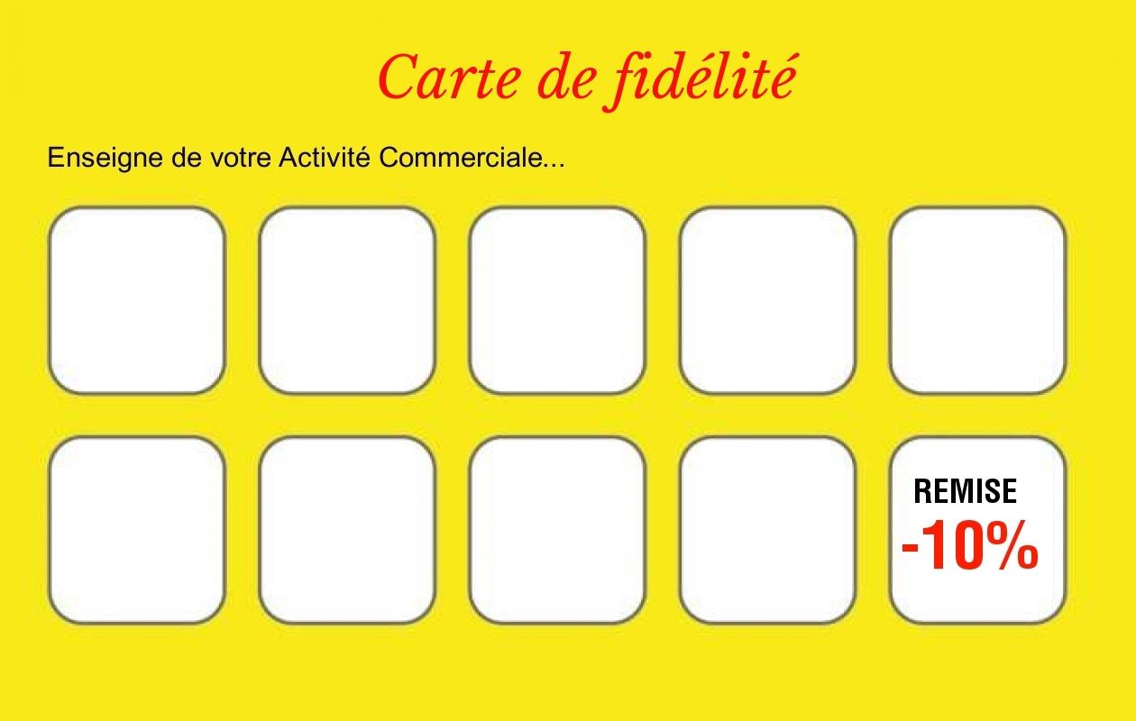 Carte De Fidelite Modele Gratuit A Personnaliser En Ligne