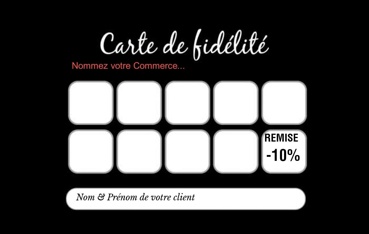 carte de fidélité gratuite Carte de Fidélité   Modèle Gratuit à Personnaliser en Ligne