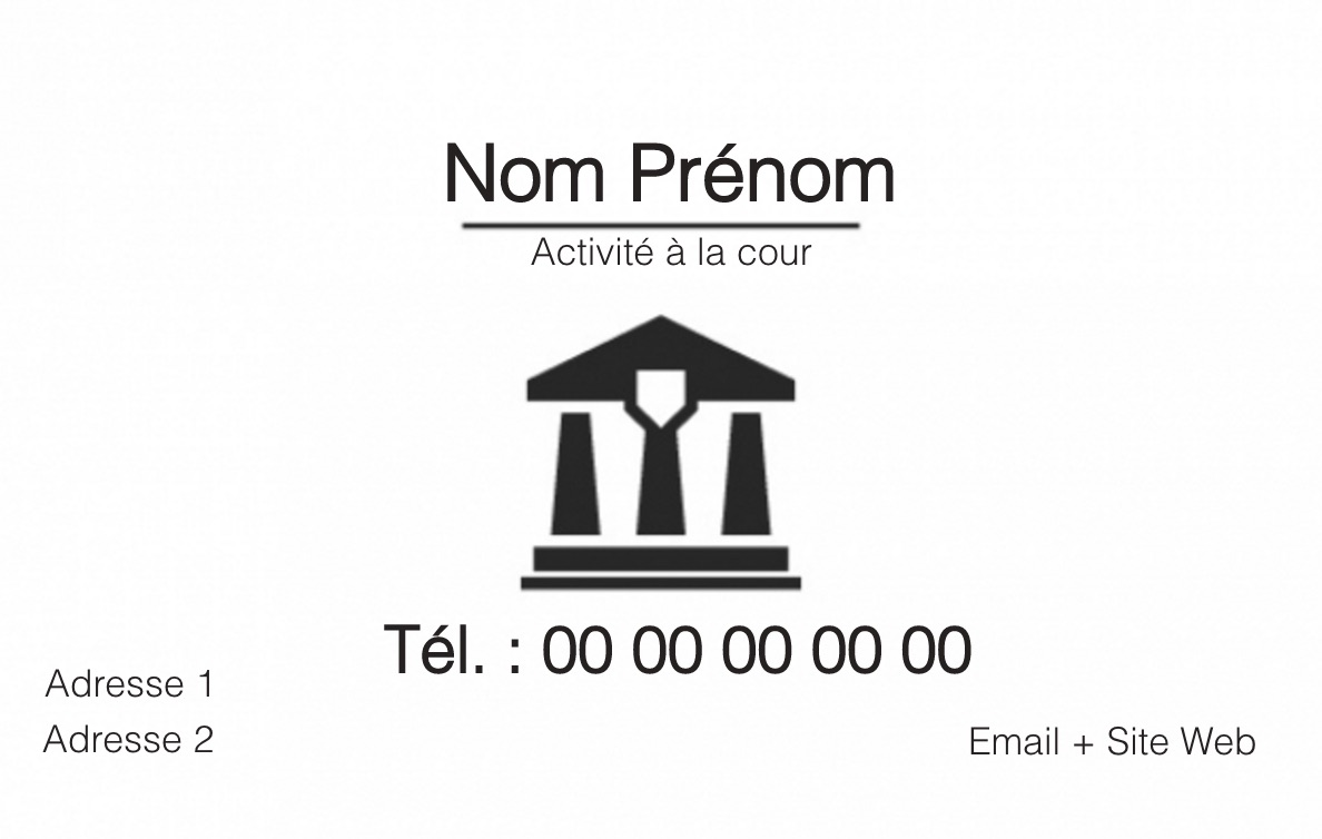 Carte De Visite BAvocat B BJustice Mtier Du Droit Exerant En Profession Librale Bdroit Pnal Et Fiscal