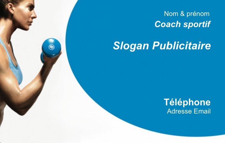Célèbre Carte de visite Sport Fitness, Coach Sportif, Modèle Gratuit à  QS34