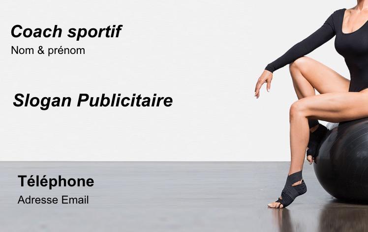 Coach Sportif Personnal Sport Trainer Soutient Carte De Visite Professionnel Modele Gratuit A Personnaliser En Ligne Et Imprimer