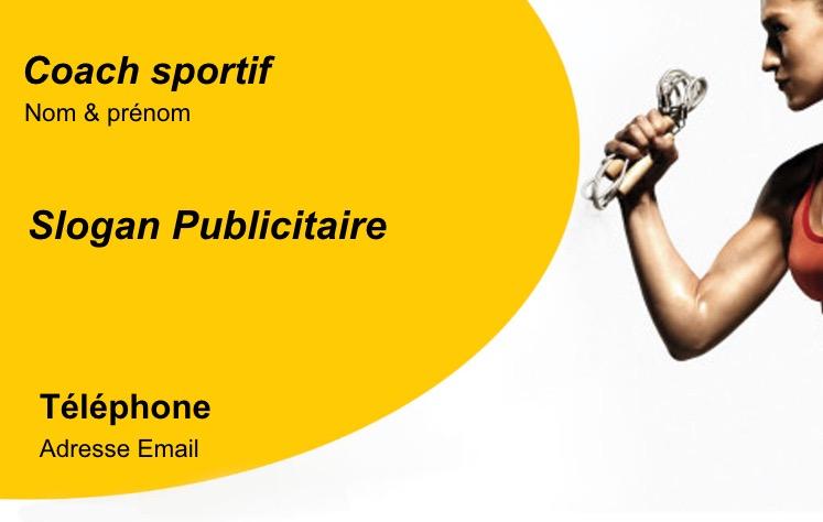 Carte De Visite Ideale Pour Personnal Trainer Coach Sportif Metier Du Sport Impression Professionnel Pas Chere