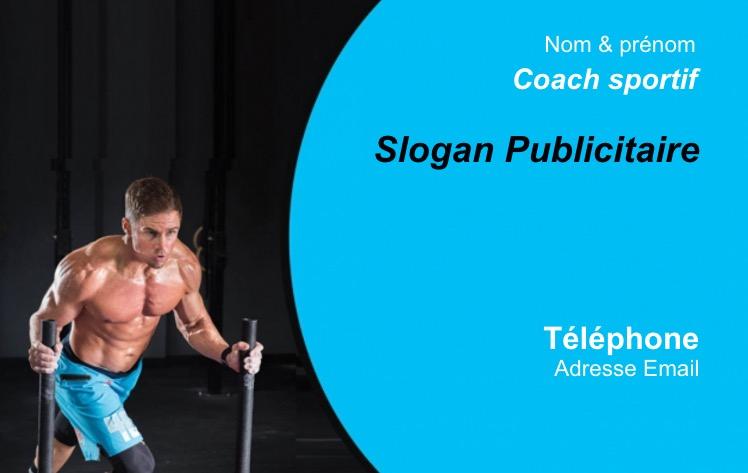 Ideal Pour Coach Sportif Entraineur Musculation Et Fitness Carte De Visite Professionnel Pas Chere Modele En Ligne A Personnaliser