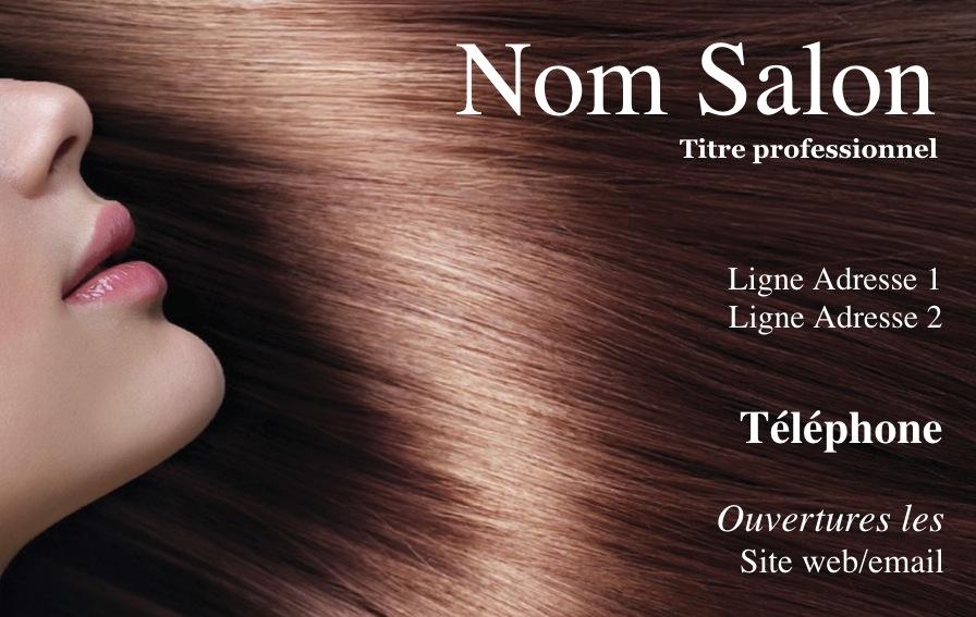 Modele Gratuit Carte De Visite Coiffure Design A Imprimer Chez Soi Avec Belle Photo Coupe Cheveux Ambiance Pour Salon Et Esthetique