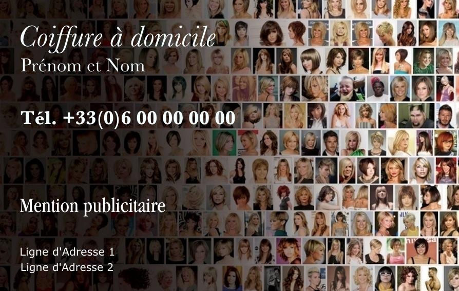 Carte de visite coiffure mod le mosa que gratuit - Modele mosaique a imprimer ...