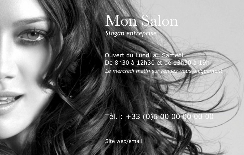 Modele Carte De Visite Coiffure Professionnel Gratuit Photo Noir