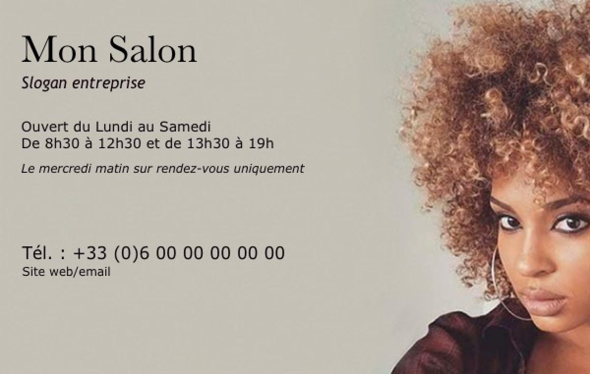 carte de visite coiffure Modèle Carte de visite Coiffure Professionnel & Gratuit
