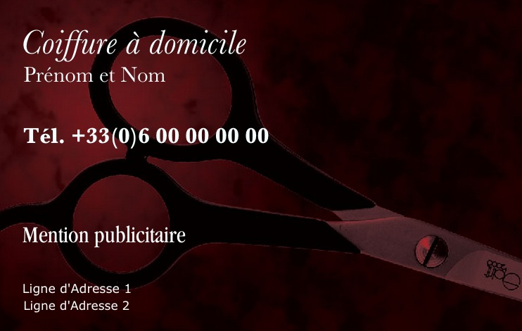Coiffure Homme Et Femme Modele Gratuit Carte De Visite Professionnelle Personnalisee A Imprimer Design Vintage Avec Fond Ciseau