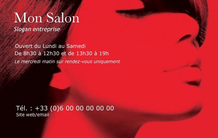 Modele Gratuit Carte De Visite Coiffure Professionnelle A Imprimer Design Avec Fond PopArt Ambiance Pour Salon