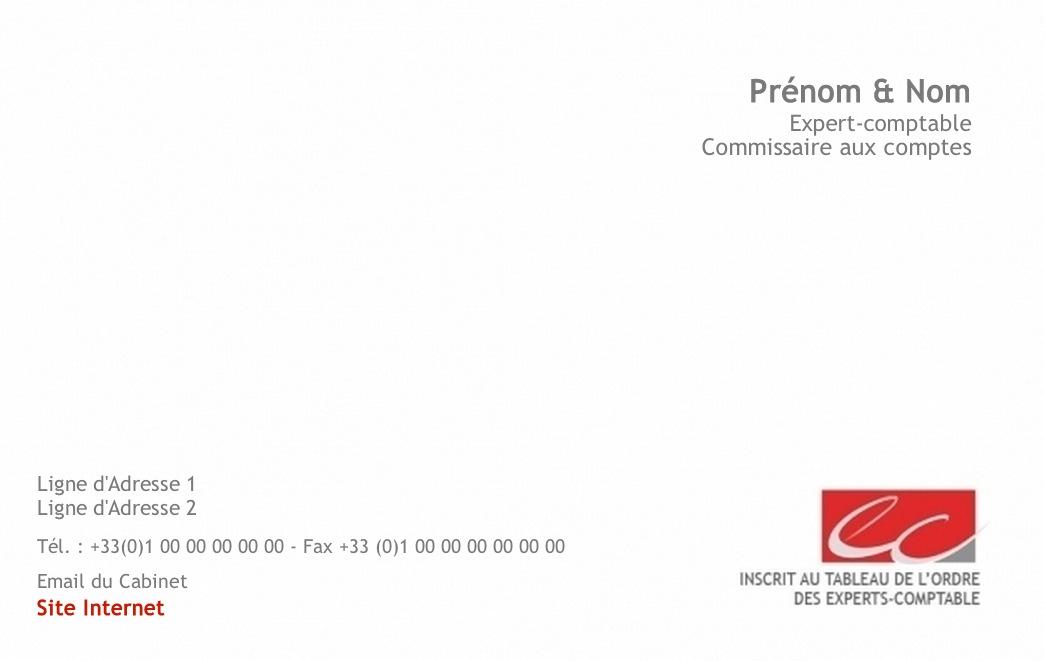 Expert Comptable Carte De Visite Professionnelle Pour Et A Personnnaliser