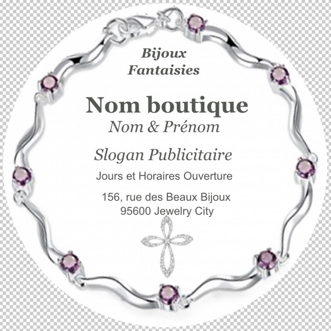 Vente Bijoux Fantaisie Bijouterie Carte De Visite Ronde Avec Dcoupe Personnalise Modle Original Et Professionnel