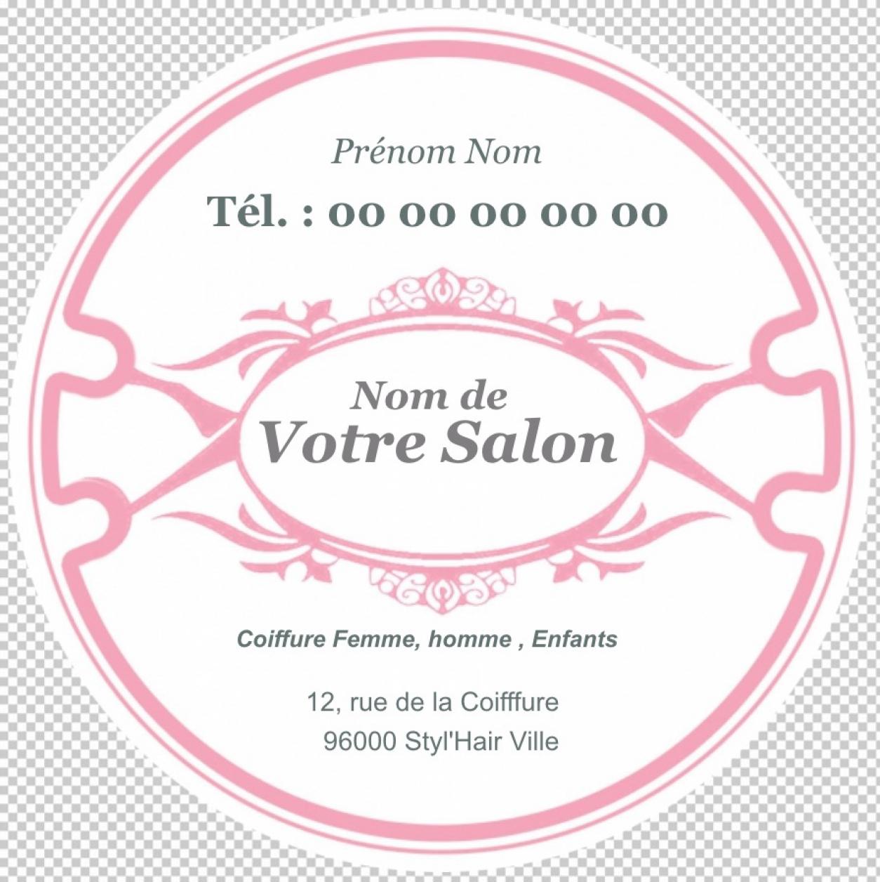 Coiffure Esthetique Carte De Visite Ronde Salon Ou A Domicile Modele Original Et Professionnel Gratuit Personnaliser