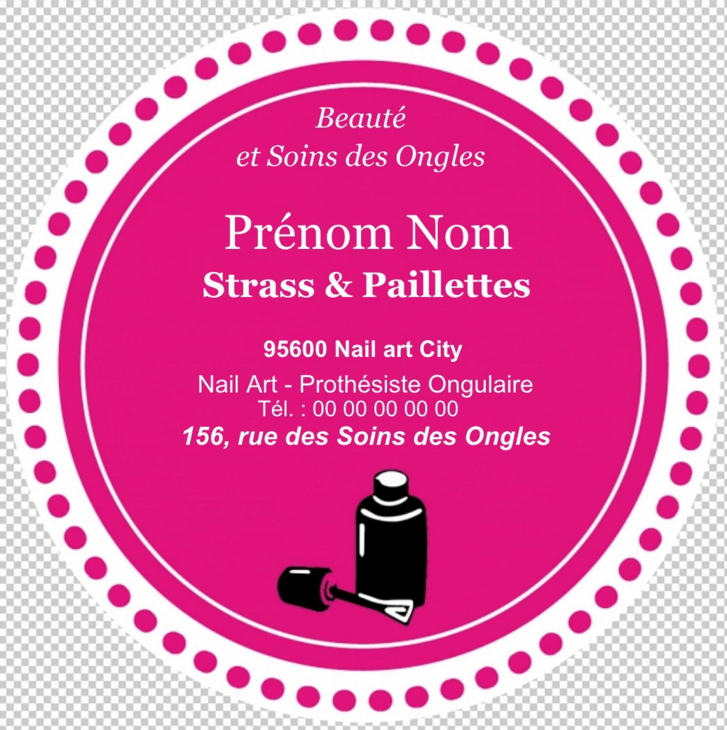 Imprimez Votre Carte De Visite Onglerie Avec Forme Originale Et Decoupe A La Ronde Pour Une Jolie Qui Fera Promotion