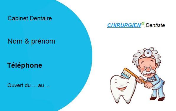 Spcialiste En Dentition Exemple Carte De Visite Professionnelle Modle Pas Cher Personnaliser Ligne Gratuitement Imprimer Type BD Humour