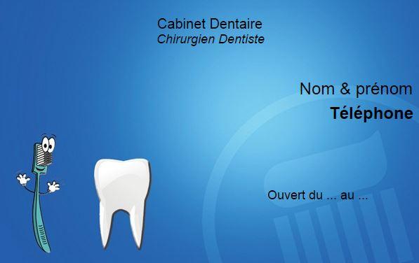 Modele Pour Dentiste Chirurgien Et Cabinet Dentaire Exemple Carte De Visite Professionnelle Original Pas Cher A Personnaliser En Ligne