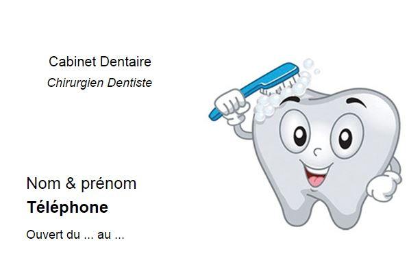 Carte De Visite Dentiste Chirurgien Dentaire En Ligne Pas Cher