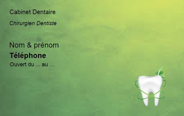 carte de visite dentiste  cabinet dentaire  mod u00e8le gratuit