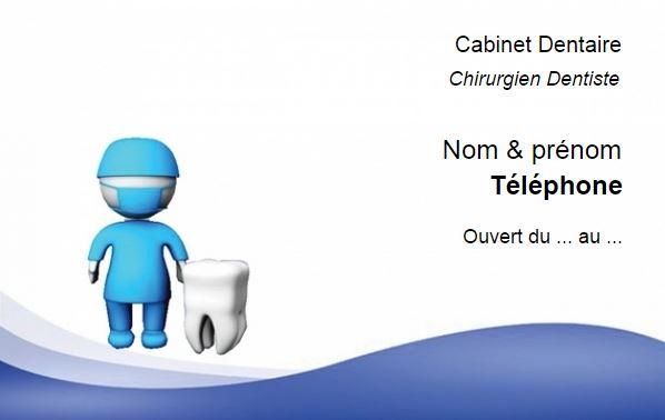 Modele Pour Dentiste Chirurgien Ou Cabinet Dentaire Exemple Carte De Visite Professionnelle Pas Cher A Personnaliser En Ligne