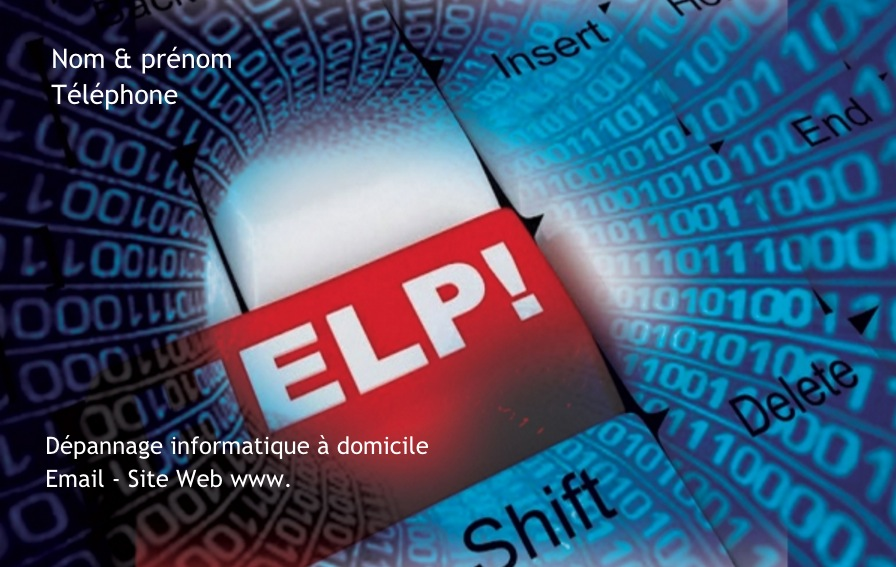 Exemple De Modle Carte Visite Informatique Personnaliser En Choisissant Un Gratuit Fond Type