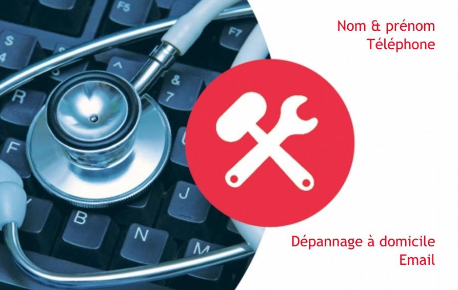 Exemple De Modle Carte Visite Informatique Personnaliser En Choisissant Un Gratuit Fond Avec Outil Clavier