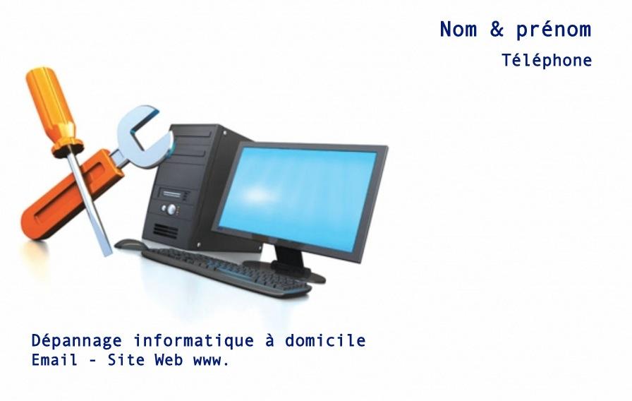 Exemple De Modle Carte Visite Informatique Personnaliser En Choisissant Un Gratuit Fond Avec Ordinateur