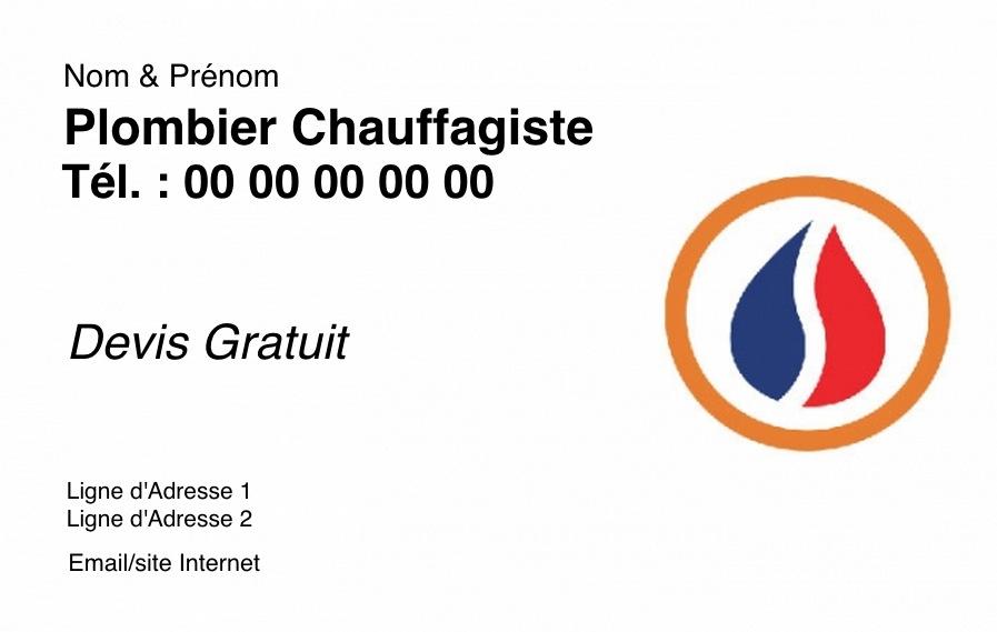 Exemple Et Modele Gratuit Carte De Visite Plombier Chauffagiste Avec Logo A Personnaliser En Ligne Impression Pas Chere Design Eau
