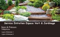Modele Carte De Visite Espace Vert Pour Jardin A Personnaliser En Ligne Avec