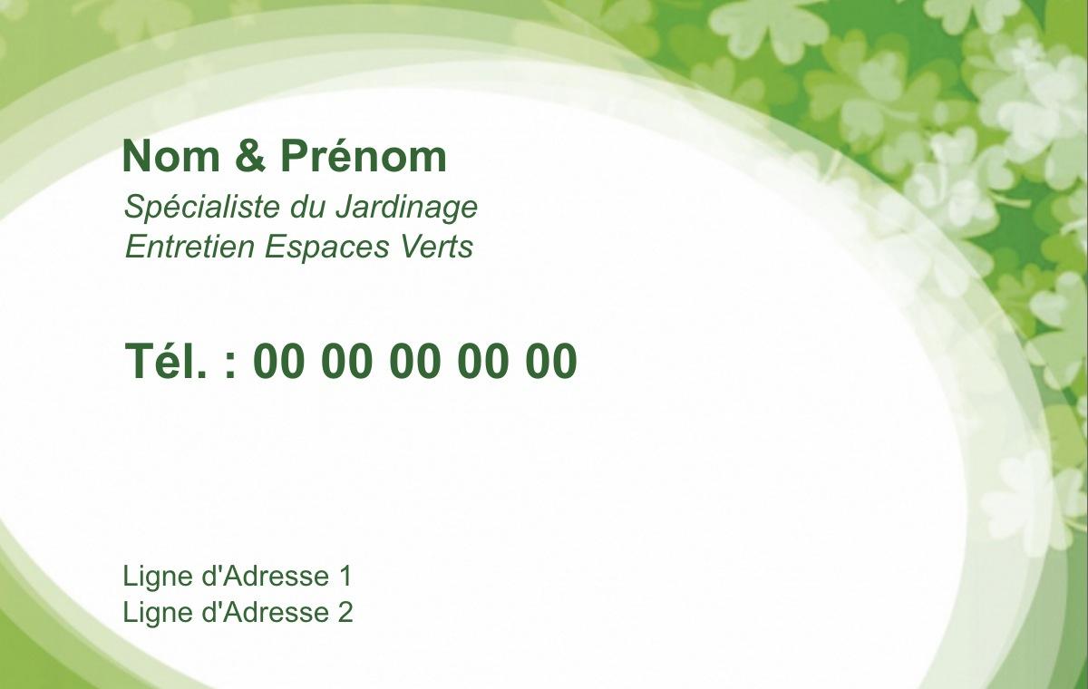 carte de visite jardinier  u21d2 mod u00e8le gratuit  u00e0 personnaliser