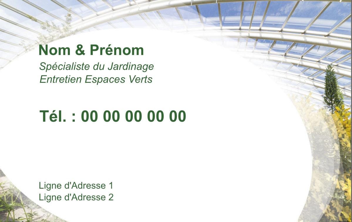 Exemple Carte De Visite Espace Vert Pour Service Et Multiservice Jardin Paysagiste A Domicile Modele Gratuit Personnaliser En Ligne