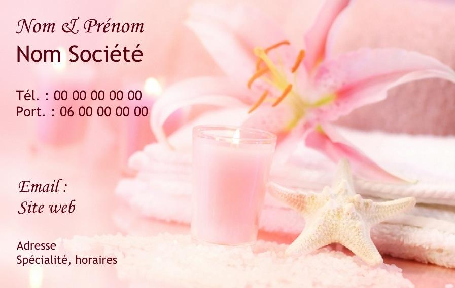 Esthticienne Institut De Beaut Cosmtique Domicile Ou Salon Modle Zen Gratuit Carte Visite Professionnelle Pour Mtier Et Service Soin Visage