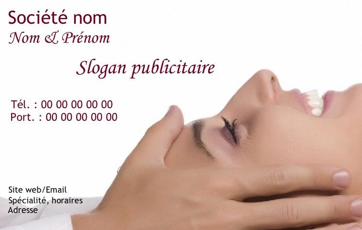 Massage Modle Gratuit Carte De Visite Pour Mtier Et Service Soin Du Corps Relaxation Dtente