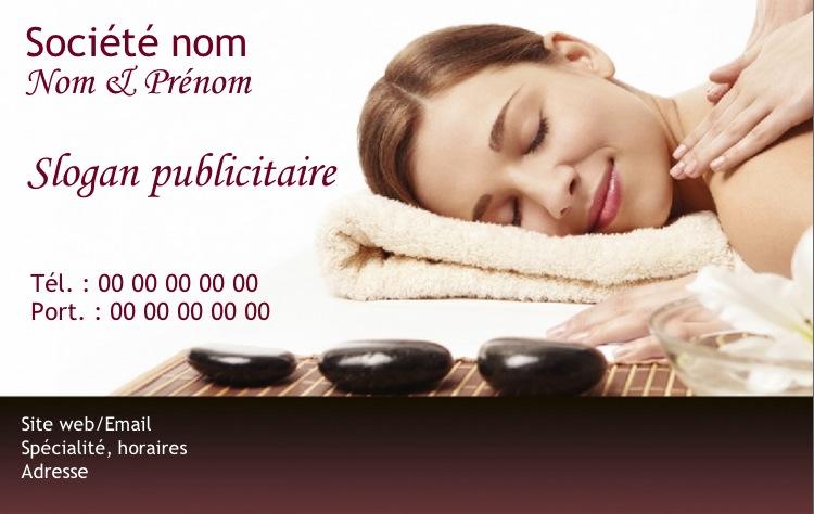 Modele Carte De Visite Gratuit Bien Etre Massage Soin