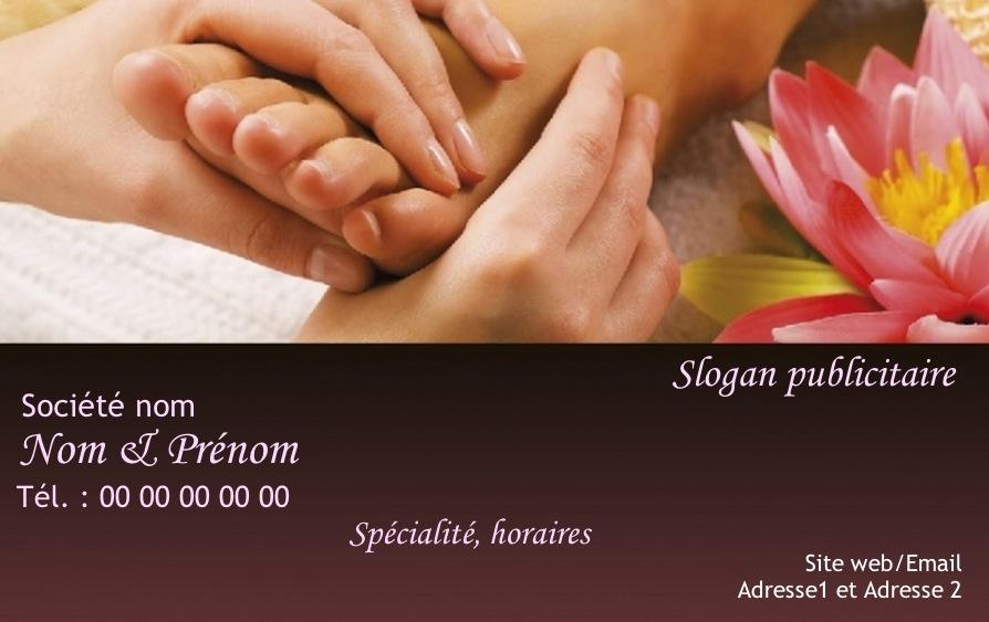 Massage Modele Gratuit A Personnaliser Carte De Visite Pour Metier Et Service Soin Du Corps Relaxation Detente
