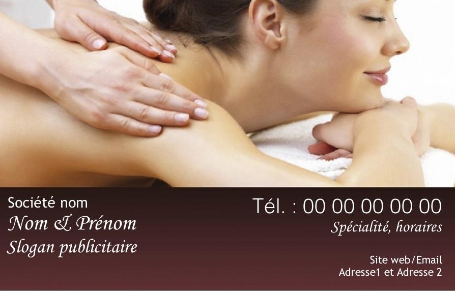 mod u00e8le carte de visite gratuit massage  bien