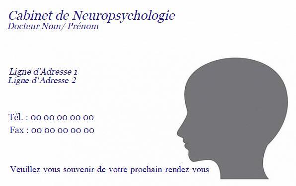 Neuropsychologue carte de visite impression pas cher personnaliser chez soi en ligne - Carte de visite gratuite sans frais de port ...