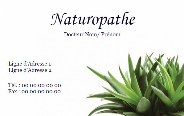 Impression Pas Cher Carte De Visite Personnaliser Chez Soi Gratuitement Naturopathe