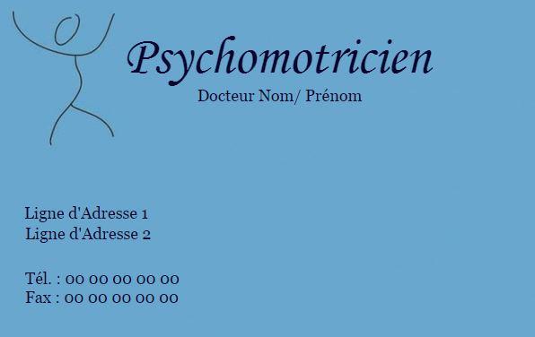Impression Pas Cher Carte De Visite Modele Psychomotricien A Personnaliser Gratuitement En Ligne