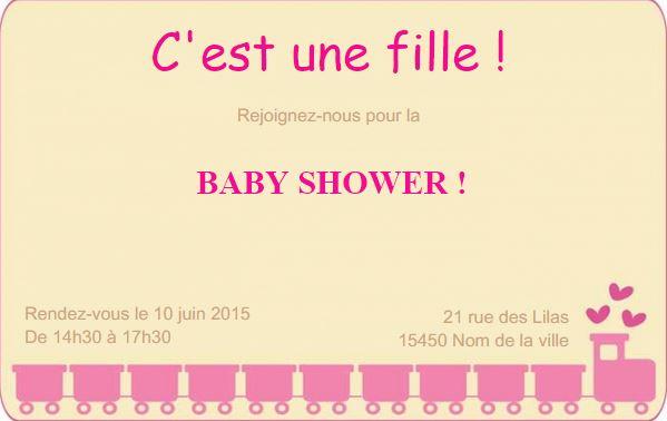 Modle Invitation Carte Baby Shower Anniversaire Personnaliser Soi Mme Partir Dun En Ligne Au Format 85 X 54cm Idal Pour Mamans