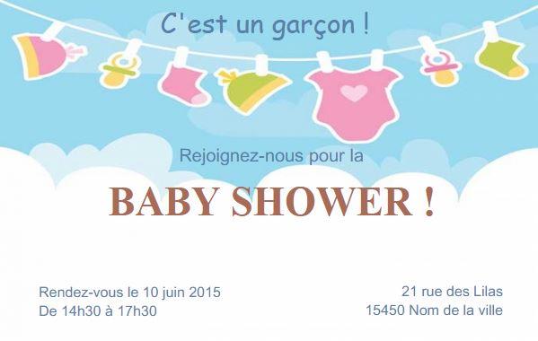 Modele Invitation Carte Baby Shower Anniversaire A Personnaliser Soi Meme Partir Dun En Ligne Au Format 85 X 54cm Ideal Pour Mamans