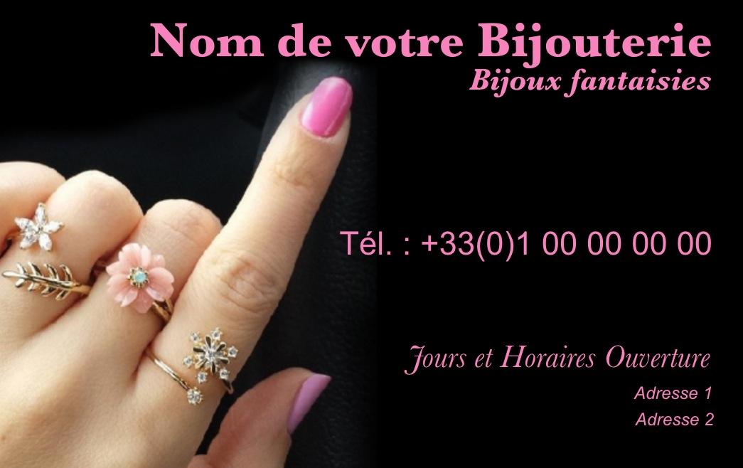Modle Gratuit Carte De Visite Bijouterie Idal Commerce Vente Bijoux Et Accessoires Mode Imprimer Personnaliser En