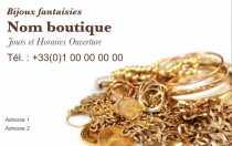 Modele Carte De Visite Bijouterie Pour Commerce Bijoux A Personnaliser En Ligne Avec Gratuit